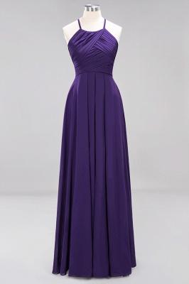 A-Line  Halter Ruffles Floor-Length Bridesmaid Dress_18