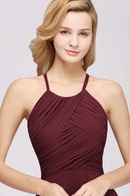 A-Line  Halter Ruffles Floor-Length Bridesmaid Dress_39