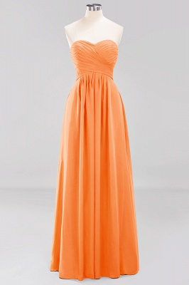 A-line  Sweetheart Strapless Ruffles Floor-length Bridesmaid Dress_15