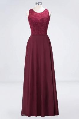 A-Line Jewel Sleeveless Hollowout Floor-Length  Lace Bridesmaid Dress_1