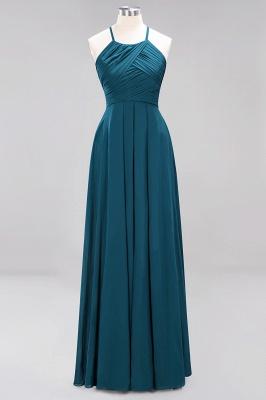 A-Line  Halter Ruffles Floor-Length Bridesmaid Dress_26