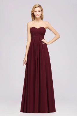 A-line  Sweetheart Strapless Ruffles Floor-length Bridesmaid Dress_1