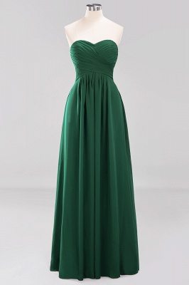 A-line  Sweetheart Strapless Ruffles Floor-length Bridesmaid Dress_30