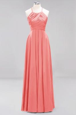 A-Line  Halter Ruffles Floor-Length Bridesmaid Dress_7