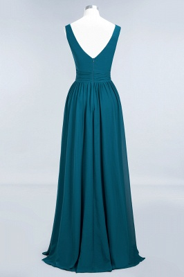 Sleeveless Chiffon A-line Newest Straps Floor-length Bridesmaid Dress_10
