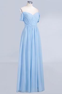A-Line Straps Sweetheart Sleeveless Floor-Length  Bridesmaid Dress with Ruffles_3