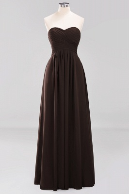 A-line  Sweetheart Strapless Ruffles Floor-length Bridesmaid Dress_11