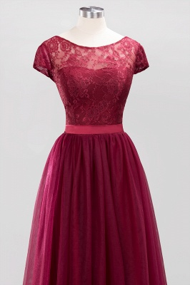 A-Line  Jewel Sleeveless Floor-Length Bridesmaid Dresses with Ruffles_4