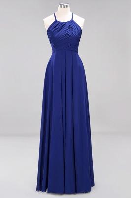A-Line  Halter Ruffles Floor-Length Bridesmaid Dress_25