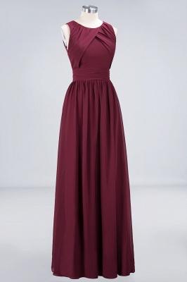 A-Line Round-Neck Sleeveless Floor-Length  Bridesmaid Dress with Ruffles_3