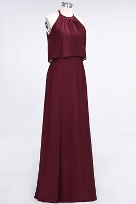 A-Line Jewel Sleeveless Floor-Length  Bridesmaid Dress_4