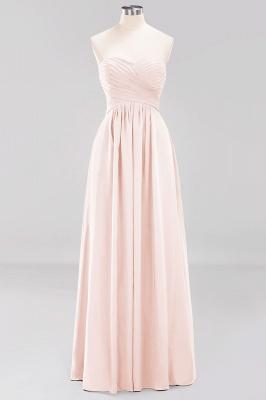 A-line  Sweetheart Strapless Ruffles Floor-length Bridesmaid Dress_5
