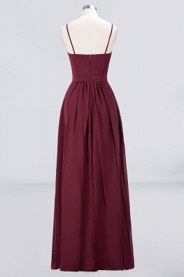 A-Line Sweetheart Spaghetti-Straps Backless Floor-Length  Bridesmaid Dress with Ruffles_2