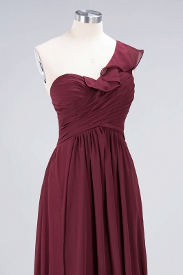 A-Line One-Shoulder Sweetheart Sleeveless Floor-Length  Bridesmaid Dress with Ruffles_5