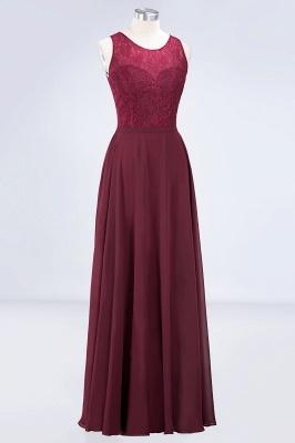 A-Line Jewel Sleeveless Hollowout Floor-Length  Lace Bridesmaid Dress_3