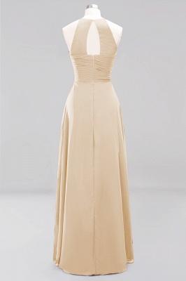 A-Line  Halter Ruffles Floor-Length Bridesmaid Dress_14
