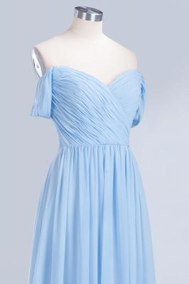 A-Line Straps Sweetheart Sleeveless Floor-Length  Bridesmaid Dress with Ruffles_5