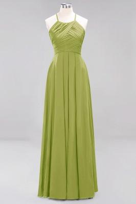 A-Line  Halter Ruffles Floor-Length Bridesmaid Dress_32