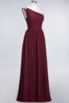 A-Line One-Shoulder Sleeveless Ruffles Floor-Length  Bridesmaid Dress with Beadings_4