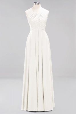 A-Line  Halter Ruffles Floor-Length Bridesmaid Dress_2