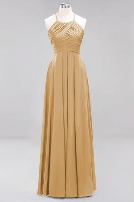 A-Line  Halter Ruffles Floor-Length Bridesmaid Dress_13