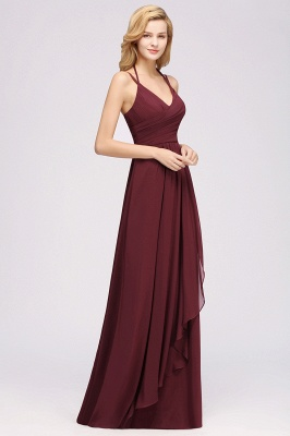 A-line  Spaghetti Straps Sleeveless Ruffles Floor-Length Bridesmaid Dresses_25