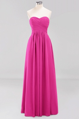 A-line  Sweetheart Strapless Ruffles Floor-length Bridesmaid Dress_9