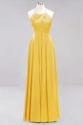 A-Line  Halter Ruffles Floor-Length Bridesmaid Dress_16