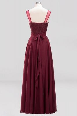 A-Line   Lace Beadings Jewel Sleeveless Floor-Length Bridesmaid Dresses with Sash_2