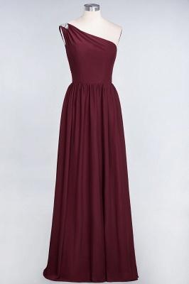 A-Line One-Shoulder Sleeveless Ruffles Floor-Length  Bridesmaid Dress with Beadings_2