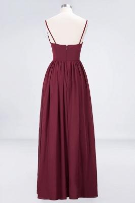 A-Line Spaghetti-Straps Deep-V-Neck Sleeveless Floor-Length  Appliques Bridesmaid Dress with Ruffles_2