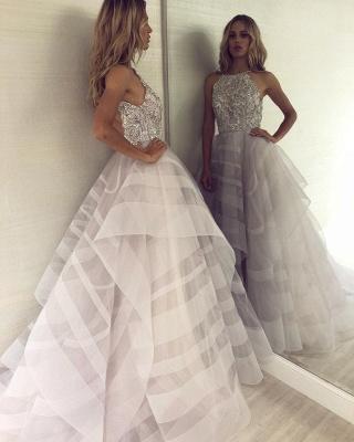 Charming Halter Sleeveless Appliques A-Line Floor-Length Prom Dress_3