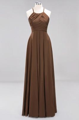 A-Line  Halter Ruffles Floor-Length Bridesmaid Dress_12