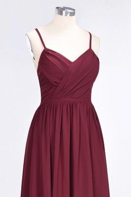 A-Line Spaghetti-Straps V-Neck Sleeveless Floor-Length  Bridesmaid Dress with Ruffles_5
