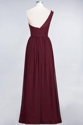 A-Line One-Shoulder Sleeveless Ruffles Floor-Length  Bridesmaid Dress with Beadings_3