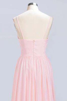 Pink Chiffon Simple Floor-length Sleeveless A-line Spaghetti-Strap Zipper Bridesmaid Dress_13