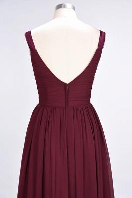 A-Line Straps V-Neck Sleeveless Backless Floor-Length  Bridesmaid Dress with Ruffles_7