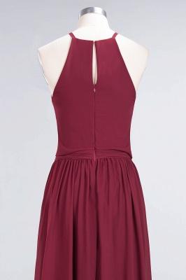 Chiffon A-Line Burgundy Simple Cheap Bridesmaid Dress_8