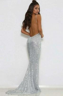 Stunning Spaghetti Straps Sleeveless V-Neck Backless Prom Dress_3