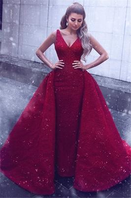Stylish V-Neck Straps Sleeveless Ball Gown Prom Dress_1