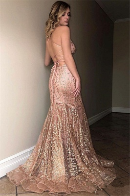 Sexy Sleeveless Spaghetti Straps Floor-Length Mermaid Prom Dress_2
