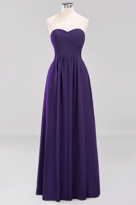 A-line  Sweetheart Strapless Ruffles Floor-length Bridesmaid Dress_18