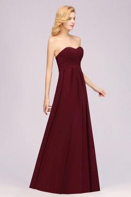 A-line  Sweetheart Strapless Ruffles Floor-length Bridesmaid Dress_4