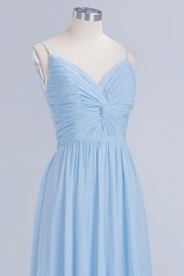 A-Line  V-Neck Spaghetti Straps Floor-Length Bridesmaid Dresses_5