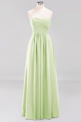 A-line  Sweetheart Strapless Ruffles Floor-length Bridesmaid Dress_33