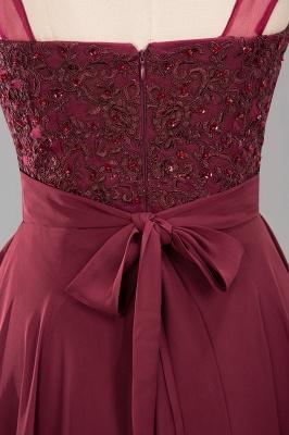 A-Line   Lace Beadings Jewel Sleeveless Floor-Length Bridesmaid Dresses with Sash_6