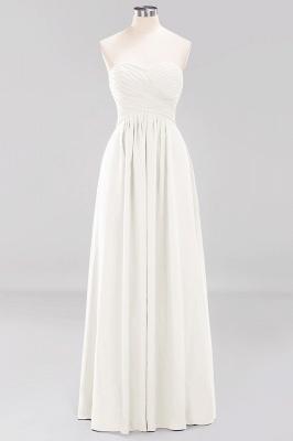 A-line  Sweetheart Strapless Ruffles Floor-length Bridesmaid Dress_2