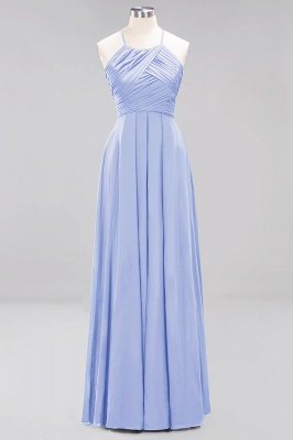 A-Line  Halter Ruffles Floor-Length Bridesmaid Dress_21