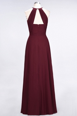 A-Line Jewel Sleeveless Floor-Length  Bridesmaid Dress with Ruffles_2