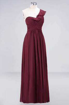 A-Line One-Shoulder Sweetheart Sleeveless Floor-Length  Bridesmaid Dress with Ruffles_3